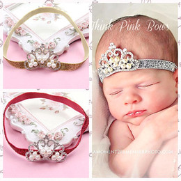 Wholesale Pearl hair color green crown of children in Europe and America with gold powder with shiny new hot baby crown headdress