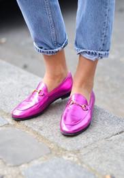 2016 horsebit slingback loafers Shoes Woman 2016 Genuine Leather Women Shoes Flats ,Slip On Flat Shoes Moccasins Plus Size