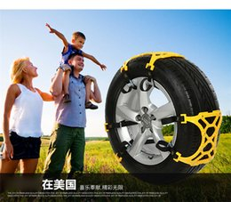 Wholesale car snow Winter Roadway Safety Tire Chains Yellow TPU rubber tyre chain Quality nonskid New Muddy uphill sand bus tire antiskid tool