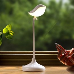 Wholesale Intelligent D Bird Bluetooth Audio Music USB Night Light with Speaker Children Flexible Dimming LED Table Lamp