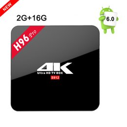 Wholesale H96 PRO TV Box Amlogic S912 Octa core Android G G Mali T820MP3 GPU wifi Gigabit LAN Bluetooth4 Media Player