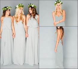 Sexy Cheap Chiffon Long Bridesmaid Dresses Ruffles Bohemian Floor Length Summer Beach Wedding Party Gowns Guest Dress Maid of Honor Gown