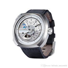 Wholesale SevenFriday V1 V2 V3 Stainless steel with sunray brushed top bezel mechanical watch V2 vertical brushed AUTOMATIC NFC Chips