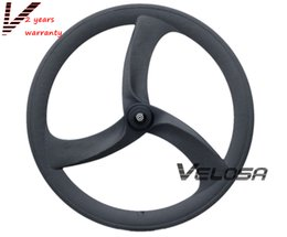 Super light road bike Full carbon Tri spoke 3-spoke wheel,56mm clincher for road Track Triathlon Time Trial Bike Wheels