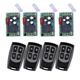 Descuento control remoto 315 AC220V 1CH control remoto Interruptores Iluminación LED Lámpara ON OFF 4Receiver 4Transmitter 315/433 aprender el código de tamaño mini envío gratuito