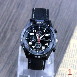 Wholesale 2016 new type analog quartz watch strap and data shows men s fashion sports watch Geneva casual Military Military watch
