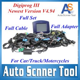 Wholesale Digiprog V4 with Full Software Odometer Programmer Free Updated Digiprog III Test Work For Car Truck Motor DHL Free