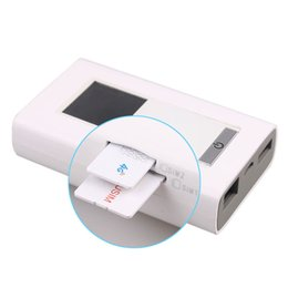 Wholesale New LTE GSM G Wireless Dongle Mifi with mAh Power Bank two SIM Card Slot RJ45 Port Modem Function Global Unlock Wifi Router
