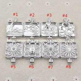 Wholesale Mixed Square Locket Love Mom Celestial Moon Star Locket for Aroma Essential Oil Diffuser Necklace Making
