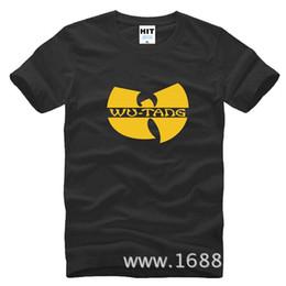 Wholesale WISHCART Wu Tang Clan Classic W Logo RAP HARDCORE HIP HOP Mens Men T Shirt Tshirt Fashion New Cotton T shirt Tee Camisetas Hombre