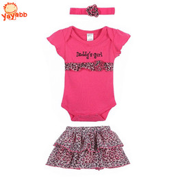 Wholesale 2016 New Fashion Baby Clothing Set Baby Girl Sets Romper Tutu Skirt Headband Newborn bebe Spring Summer Clothes