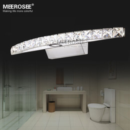 Contemporary Home Decors LED Crystal Mirror Wall Sconces Cristal LED Stainless Steel Lighting for Bathroom MD81539