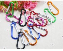 Wholesale Promotional cm D shaped Aluminium alloy carabiner key ring for outdoor