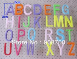 Wholesale PH015 Decorative Flower Patch Alphabet Shape Felt Appliques ABC letters Mixed M62787 decorate flowers decoration for flower