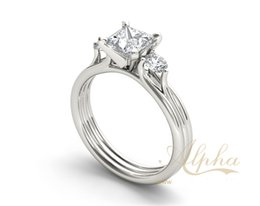 Wholesale Best selling factory price fashion hotsale engagement wedding brand ring designs Sterling Silver Jewelry international standard BER0065