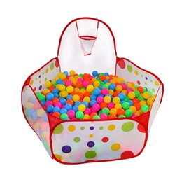 Wholesale 150cm Kids Ball Pit Baby Playpen Toddler Play Yard Ball Tent with Mini Basketball Hoop with Zippered Storage Bag
