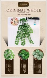 Wholesale Trimming green wall home furnishings simulation plant simulation of plastic rattan vines Wall