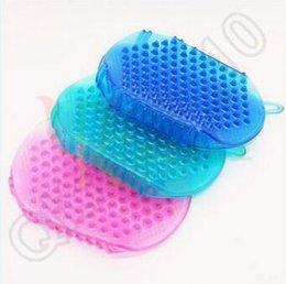 Wholesale 500pcs LJJC4050 High Quality Candy Color Massage Brush Body Massage Glove Massager For Anti Fat Body Arm Leg Lose Weight Massager Gloves