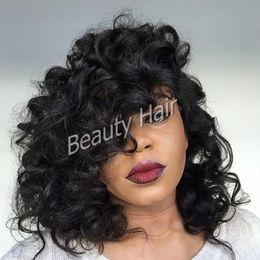 Short human hair wigs brazilian bob wig full lace wigs lace front wigs wave hair