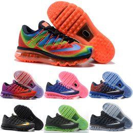 Drop Shipping Wholesale Running Shoes Men Women Air Cushion 2016 New Color Sneakers Weaving Cheap Discount Sports Shoes Size 36-46