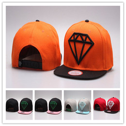 Wholesale Diamond embroidered tide adjustment cap hip-hop cap Snapback Hats flat brim Diamond fashion hats