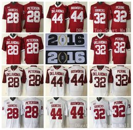 Wholesale Oklahoma Sooners College Adrian Peterson Football Jerseys American Samaje Perine Brian Bosworth Orange Bowl Red White