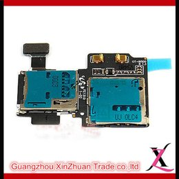 Wholesale Cell Phone Flex Cables Sim Card Reader Tray Slot Memory Holder Socket Flex Cable For Samsung Galaxy S4 i337 I9505 I9500