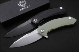 Wholesale high quality Monkey folding knife ZT0095 blade C Stain black handle G10 outdoor camping hunting hand tools