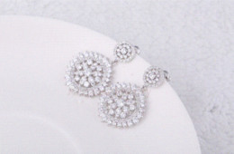 Gorgeous Design Vintage Style Cut 1cm Round Drop Marquise Cubic Zirconia Diamond Flower Dangle Earrings earrings purple