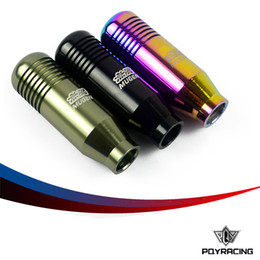 Wholesale PQY STORE NEW RACING MUGEN Shift Knob GEAR KNOBS for Honda Acura M10x1 BALCK NEO CHROME TITANIUM PQY SK71