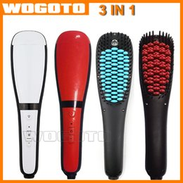 Magic Anion Spray Electric Hair Straightening Brush Fast Hair Straightener Comb Magic Hair Comb with Temperature Control Straightening Irons