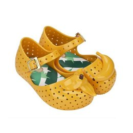 Wholesale girls shoes princess mini melissa FURADINHA IX sandale enfant garcon sandale fille banana toddler girl sandals summer shoes