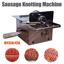 Wholesale MY32A Handle Stainless steel sausage knotting machine sausage casings binding machine smoked sausage knot machine