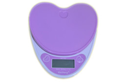 5kg 1g Digital Electronic Kitchen Scales Heart Shaped Portable Mini Food Diet Weighing Bench Balance For Girls Gifts Hot Selling