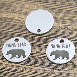 Wholesale 10pcs mama bear heart charm silver tone message charm pendant mm