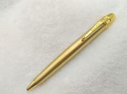 Wholesale Copy Pen RLX Luxury Pen Golden Color Round Head Pattern Matte Golden Ballpoint Pen No Box