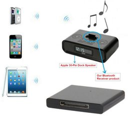 Wholesale 2015 New Bluetooth Music Receiver A2DP Audio Adapter Car Kit for Apple Pin Dock Speaker For iPhone iPad Mobile Phone etc