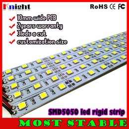 100m high brightness rigid bar 20-22lm 5050 12v led strip bar SMD 5050 3528 LED Rigid Strip Light cool white Bar Lamp Under Cabinet Lighting
