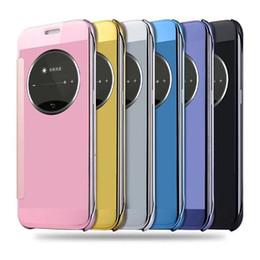 Wholesale For Samsung Galaxy S7 Edge Case Mirror Smart Round Clock Window View Slim Flip Case Cover For Samsung Galaxy S7 S7 Edge Note