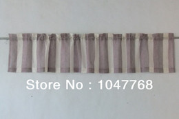 Wholesale 45 cm x cm W L thick stripe long article yarn dyed imitation linen curtain shade coffee