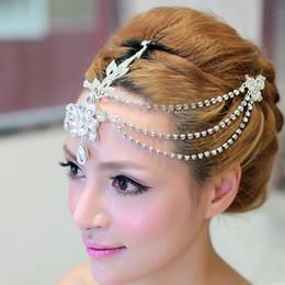 Luxury bride tassel frontal decoration wedding tiara crown baroque alloy diamond wedding hair accessories