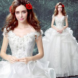 white rhinestone flowers slash collar stage performance ball gown Victorian dress party stage performance medieval dress belle