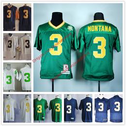 Norte Dame Fighting Irish Jersey 2016 Football Ncaa College Joe Montana Jersey White Blue Green