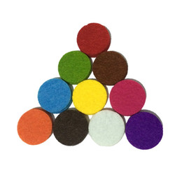 Wholesale 40pcs inches Felt Refill Pads Diffuser Locket Necklace Spacers Essential Oil Necklace Pads Assorted Colors