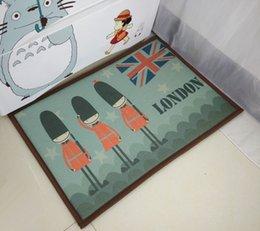 Wholesale 40 cm New Bath Shower Doormat British Guards Washable Reusable Floor Carpet for Kitchen