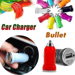 Bullet Mini Car Charger USB Portable Universal Adapter Colorful For iPhone XS X 8 7 Plus 6 6S Samsung Galaxy Note 9 S9 S8 Huawei Xiaomi iPad