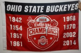Wholesale The Ohio State University Buckeyes NCAA Flag National Champions Flag hot sell goods X5FT X90CM Banner brass metal holes OSU9