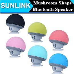 Wholesale Mushroom Mini Wireless Bluetooth Speaker Hands Free Sucker Cup Audio Receiver Music Stereo Subwoofer USB For Android IOS PC
