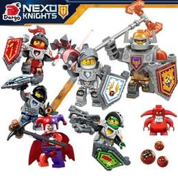 Wholesale Nick Knights Building Blocks nexo Castle Warrior Clay Beast Master Aaron Macy Flame Thrower Smasher Minifigure Toys LegoaIIbi