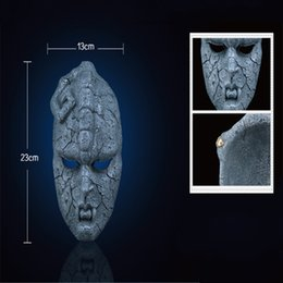 Wholesale Halloween Mask Masquerade for Adult Fashion Horror JoJo Bizarre Adventure Decorative Stone Mask Stone Ghost Resin Mask COS Cosplay Party